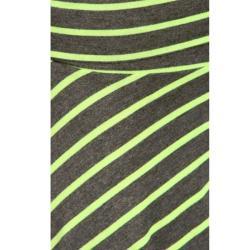 Tabeez Women's Neon Striped Fold-over Skirt - Thumbnail 2