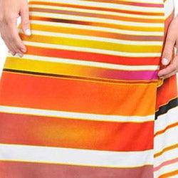 Stanzino Women's Striped Twist Back Maxi Dress - Thumbnail 2