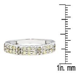 10k White Gold 2/5ct TDW Brown Diamond Fashion Ring - Thumbnail 2