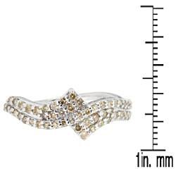 10k White Gold 3/5ct TDW Brown Diamond Fashion Ring