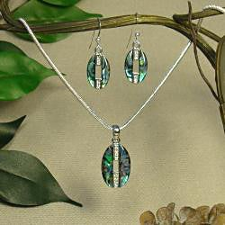 Jewelry by Dawn Abalone Necklace and Earring Set - Thumbnail 2