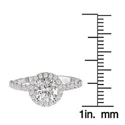 Avanti 14k Gold 3/8ct TDW Diamond Semi-mount Engagement Ring (G-H, SI1-SI2) - Thumbnail 2