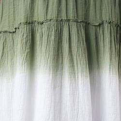 Tabeez Women's Dip Dye Voile Skirt - Thumbnail 2