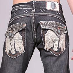 Laguna Beach Men's 'Long Beach' Black Wash Jeans - Thumbnail 2