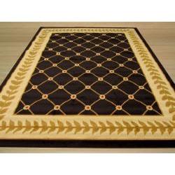 Pat Latice Border Black Rug (3'3 x 4'6) - Thumbnail 2