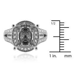 14k White Gold 1/2ct TDW Diamond Semi-mount Engagement Ring (G-H, SI1/SI2) - Thumbnail 2