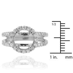 14k White Gold 1ct TDW Diamond Semi-mount Engagement Ring (G-H, SI1/SI2) - Thumbnail 2