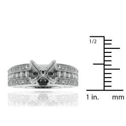 14k White Gold 5/8ct TDW Diamond Semi-mount Engagement Ring (G-H, SI1/SI2) - Thumbnail 2