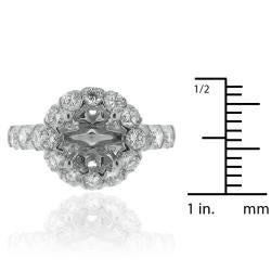 14k White Gold 1 2/5ct TDW Diamond Semi-mount Engagement Ring (G-H, SI1/SI2) - Thumbnail 2