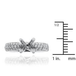 14kt White Gold 1/2ct TDW Diamond Engagment Ring - Thumbnail 2