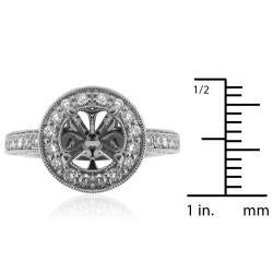14Kt White Gold 1ct TDW Semi Mount Diamond Ring - Thumbnail 2