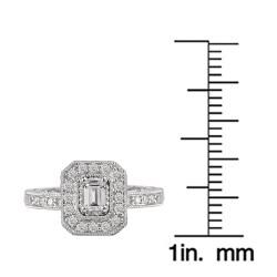 Avanti 14k White Gold 5/8ct TDW Diamond Engagement Ring (G/H, SI1-SI2) - Thumbnail 2