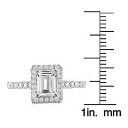 Avanti 14k White Gold 1/3ct TDW Diamond Halo Engagement Ring (G/H, SI1-SI2) - Thumbnail 2