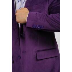 Ferrecci Men's Purple Velvet Blazer