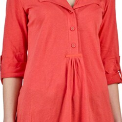 AtoZ Women's Basic Ruched Shirt - Thumbnail 2