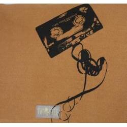 Two Tree Designs Handmade Medium Tan Cassette Tape Messenger Bag - Thumbnail 2
