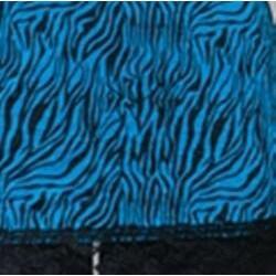 24/7 Frenzy Women's Blue Zebra Lace Trim Camisole