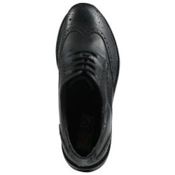 GBX Men's Black Leather Wingtip Oxfords - Thumbnail 2