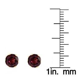 Beverly Hills Charm 14k Yellow Gold Rhodolite Garnet 3-6 mm Stud Earrings - Thumbnail 2