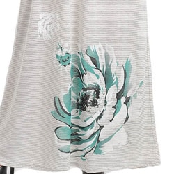 Stanzino Women's Gray Strapless Maxi Dress with Flower Print - Thumbnail 2