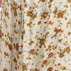 Stanzino Women's Plus Floral Print Dress with Sash - Thumbnail 2