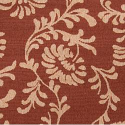 Parma Russet Floral Indoor/Outdoor Rug (7'6 x 10'9) - Thumbnail 2