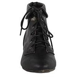 Modesta by Beston Women's 'Tiko-01' Black Ankle Booties - Thumbnail 2