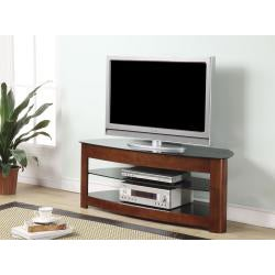 OSP Design Wood/ Glass TV Stand