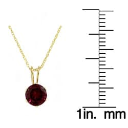 Beverly Hills Charm 14k Yellow Gold Rhodolite Garnet Necklace - Thumbnail 2