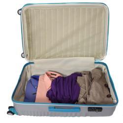 American Vertigo Silver 3-piece Lightweight Expandable Hardside Spinner Luggage Set With TSA Lock - Thumbnail 2