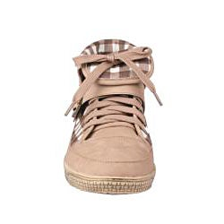 Viva Secret by Beston Women's Camel High-Top Sneakers - Thumbnail 2