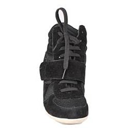 Refresh by Beston Women's 'Dakota' Black Sneaker Booties - Thumbnail 2