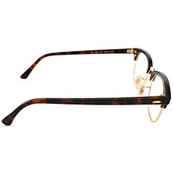 Ray-Ban Unisex RX 5154 Tortoise/ Gold Clubmaster Optical Eyeglasses Frames - Thumbnail 2
