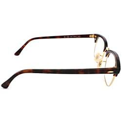 Ray-Ban Unisex RX 5154 Tortoise/ Gold Clubmaster Optical Eyeglasses Frames
