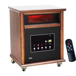 Lifesmart Power Plus Infrared Quartz Heater with Dark Wood Cabinet