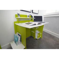 Legare Kids' 43-inch Green/ White Desk with File Cart - Thumbnail 2