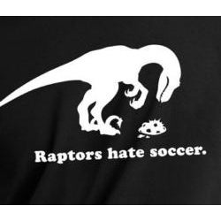 Men's Black 'Raptors Hate Soccer' T-shirt
