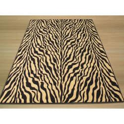 Euro Home Black Rug (5' x 6'6) - Thumbnail 2