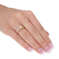 14k Yellow Gold 1/2ct TDW Diamond Engagement Ring (J-K, I2-I3) - Thumbnail 2