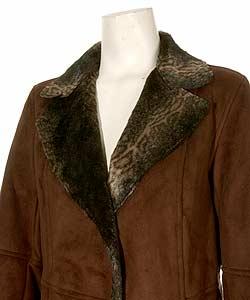 Utex Design Women's Faux Suede Coat