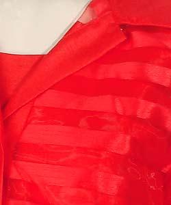 Sag Harbor Red Sheath Dress with Organza Jacket - Thumbnail 2