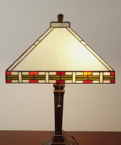 Tiffany-style Mission-style Table Lamp - Thumbnail 2
