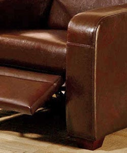 Chocolate Leather Recliner Chair - Thumbnail 2