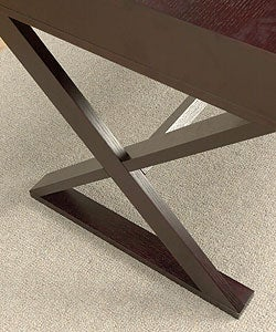 Wenge Three-drawer X-base Desk - Thumbnail 2