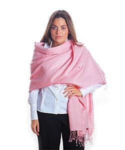 Pink Pashmina and Silk Shawl