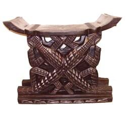 Hand-carved Ashanti Stool (Ghana)