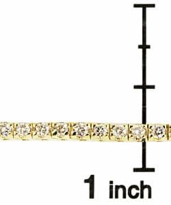 14k Gold 2ct Diamond Tennis Bracelet (K, SI) - Thumbnail 2