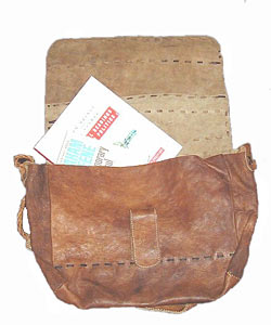 Handmade Leather Satchel (Nepal) - Thumbnail 2