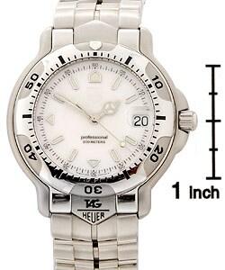 Tag Heuer 6000 Men's White Dial Silvertone Bracelet Watch - Thumbnail 2