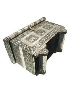 Handmade Embossed Elephant Jewelry Box India Free